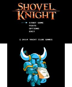 3DS Shovel Knight - Start Menu