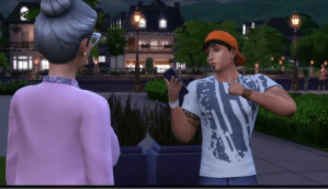 Old Woman and Young Man   The Sims 4