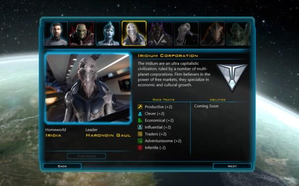Galactic Civilizations III characters