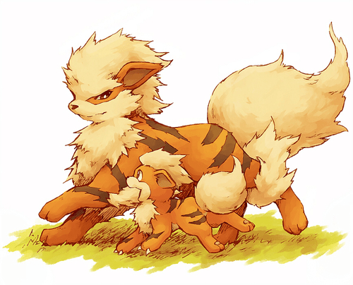 Video Game Dogs | Growlithe and Arcanine