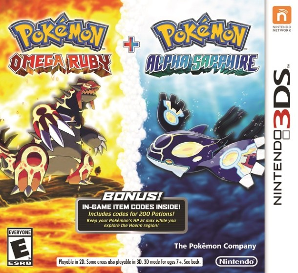 Pokemon Omega Ruby and Alpha Sapphire Dual Pack Box Art