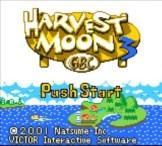 Harvest Moon 3 GBC - Title Screen
