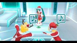 Hatsune Miku: Project Diva F 2nd   Miku, Rin, and Len Santa Costumes