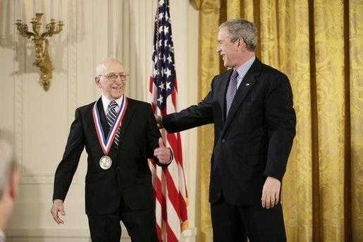Ralph Baer with President Bush