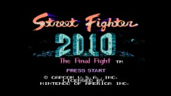 Street Fighter 2010 The Final Fight - Title Screen