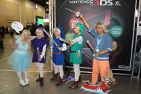 A bunch of Link incarnations.
