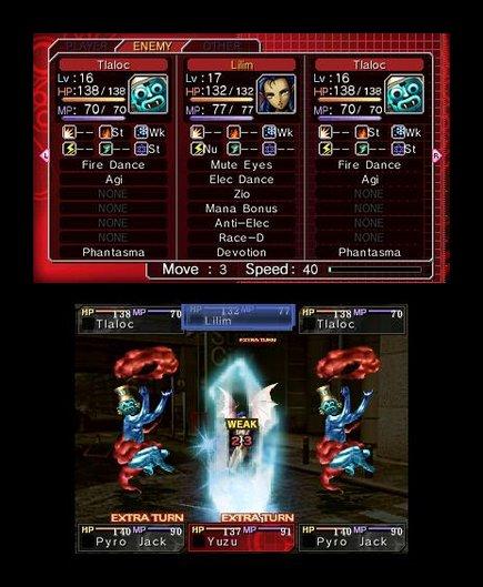 Shin Megami Tensei: Devil Survivor Overclocked   Battle