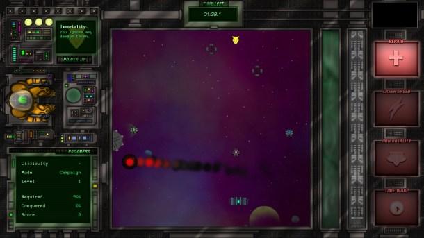 Luminosity | Campaign Mode - Cautiously avoiding a tough enemy.