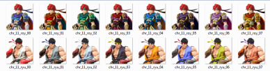 Super Smash Bros. - Roy and Ryu Color Swaps