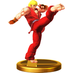 Super Smash Bros. - Ken Trophy