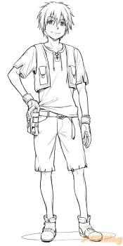 Gargantia Sequel Russell Character Design