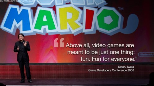 Iwata - Super Mario 3D Land with Quote from GDC 2006