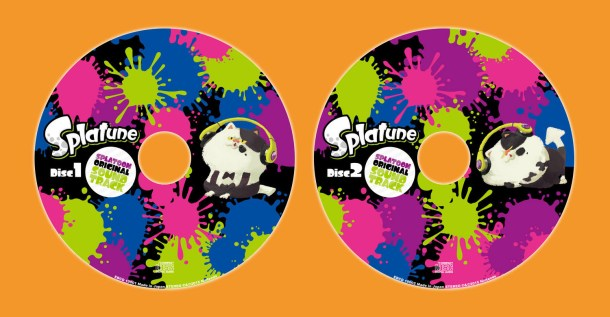 The Splatune sound track spans two colorful discs.
