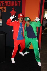Mario and Luigi during their hip-hop years