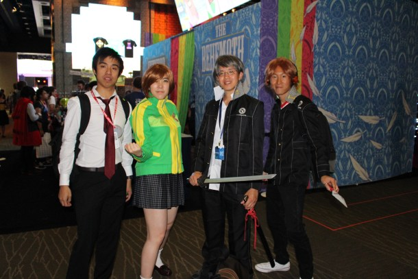 So here we've got Yosuke Hanamura, Yu Narukami, Chie Satonaka, and... some... guy.