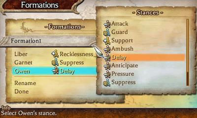 The Legend of Legacy | Formations