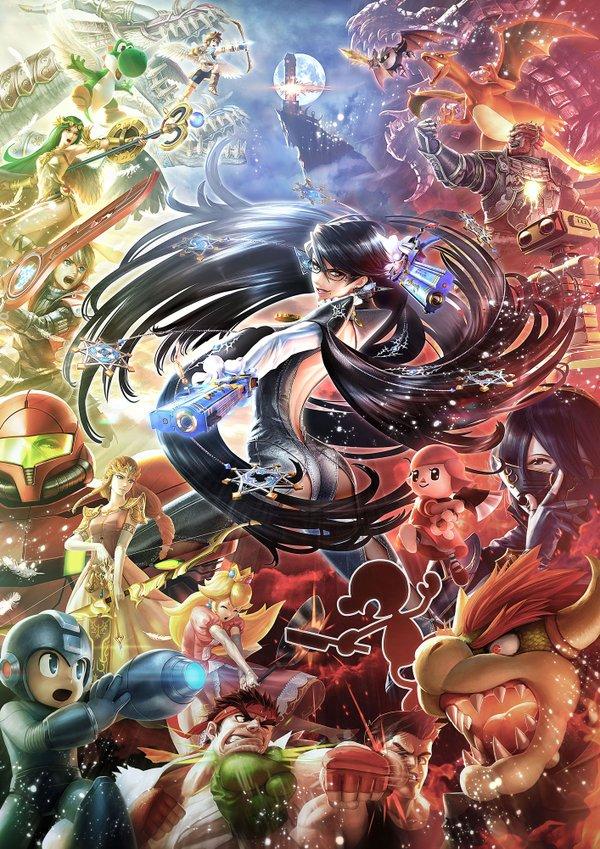Super Smash Bros. | Bayonetta Challenger Art