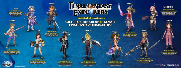 Final Fantasy Explorers Legacy Infographic