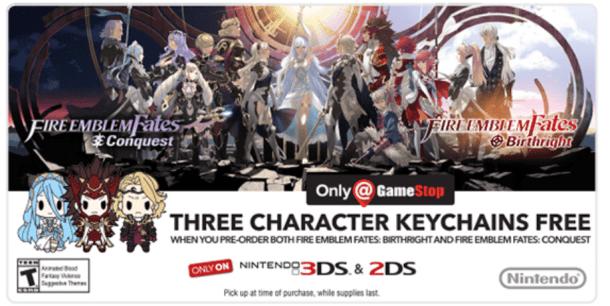 Fire Emblem Fates keychains