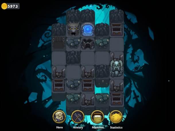 Dungelot: Shattered Lands | Dungeon Selection Screen