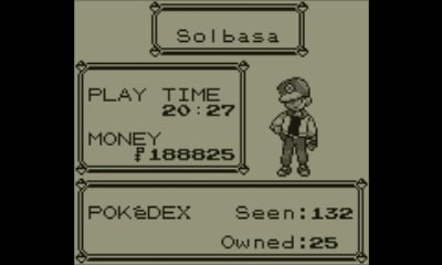 Pokémon Red | End screen