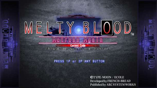 Melty Blood | Title Screen