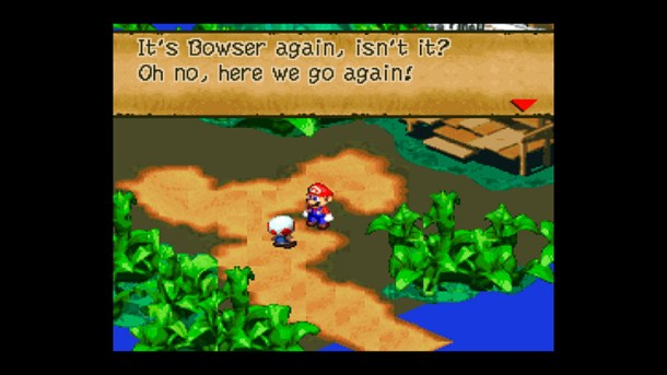 Super Mario RPG dialogue