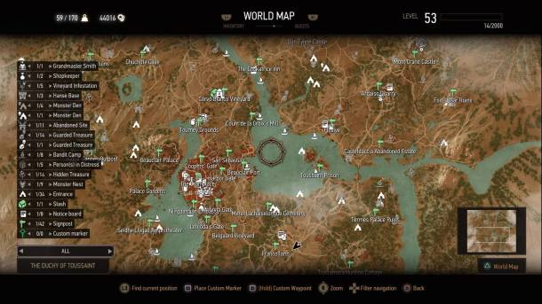 The Witcher 3 Blood and Wine | Map