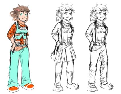 Tomboy Tinkerer's (Hotaru) early concept