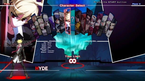 Under Night In-Birth Exe Late | Character Select