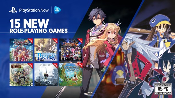 PlayStation Now 15 RPG Offerings