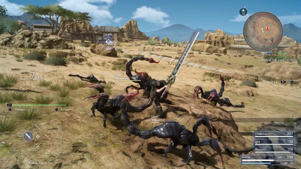 Final Fantasy XV | Scorpion fighting