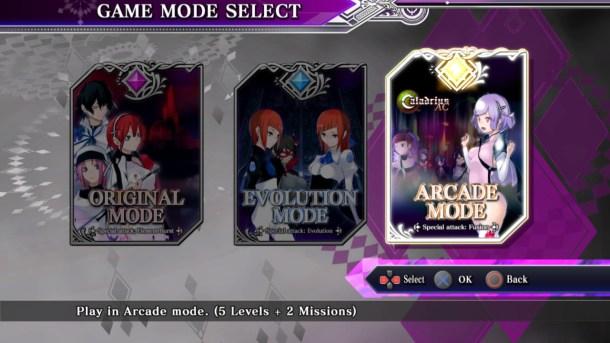 Caladrius Blaze | Mode select
