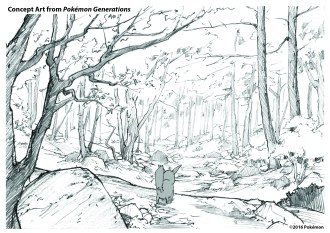 pokemon-generations-concept-art_viridian-forest_kanto-region_pokemon-red-and-pokemon-blue