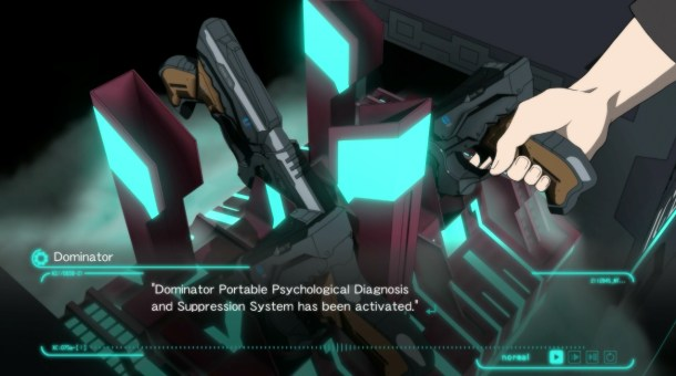 Psycho-Pass: Mandatory Happiness | Gripping a Dominator