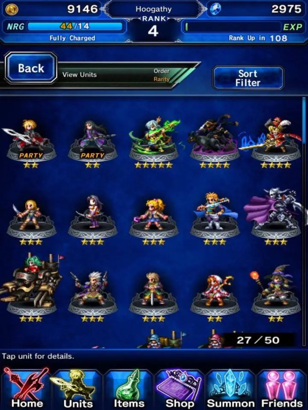 Final Fantasy Brave Exvius | Character List