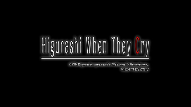 Higurashi When They Cry Hou Ch 4 Title Screen
