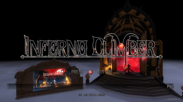 Inferno Climber Title Screen