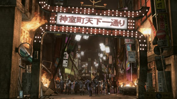 Yakuza: Dead Souls | Welcome to the ruined city of Kamurocho.