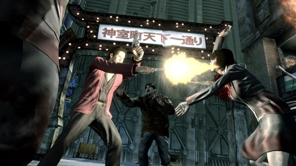 Yakuza: Dead Souls | Akiyama's dual pistols are easily the most broken guns in the game.