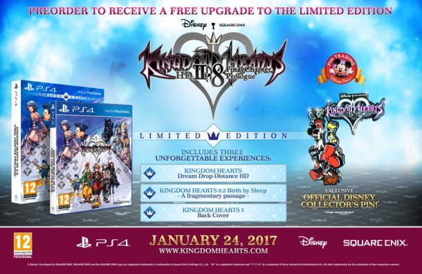 kingdom hearts limited edition