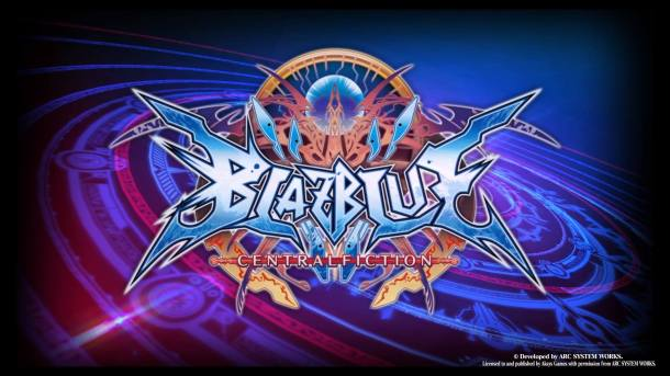 BlazBlue Central Fiction Title Screen