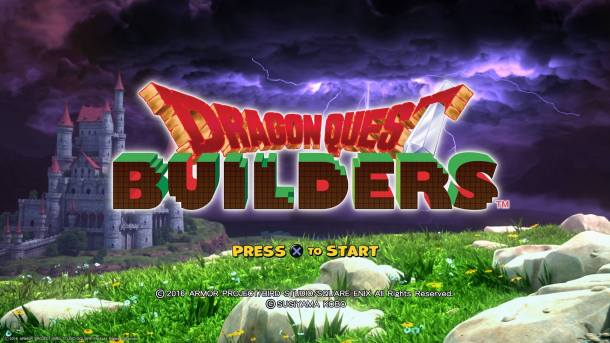 Dragon Quest Builders Title Screen