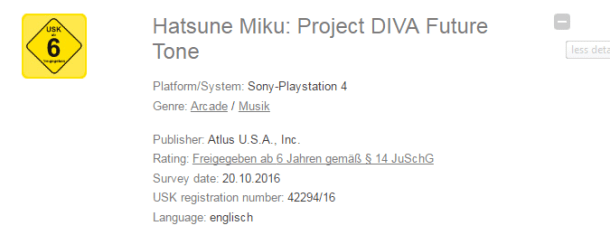 Project Diva Future Tone Rumor