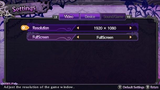 Trillion PC | Graphics Options