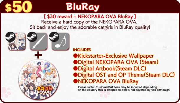 Nekopara kickstarter rewards