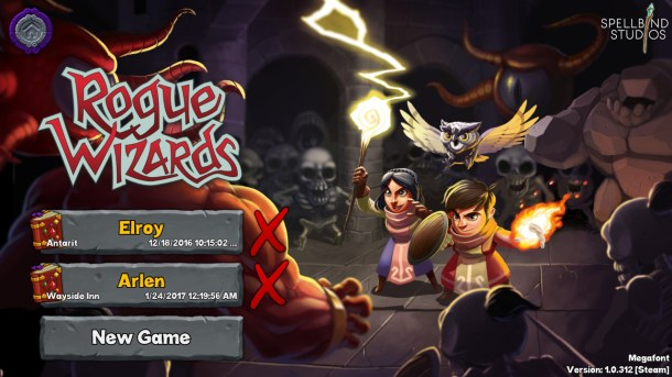 Rogue Wizards | Main Menu