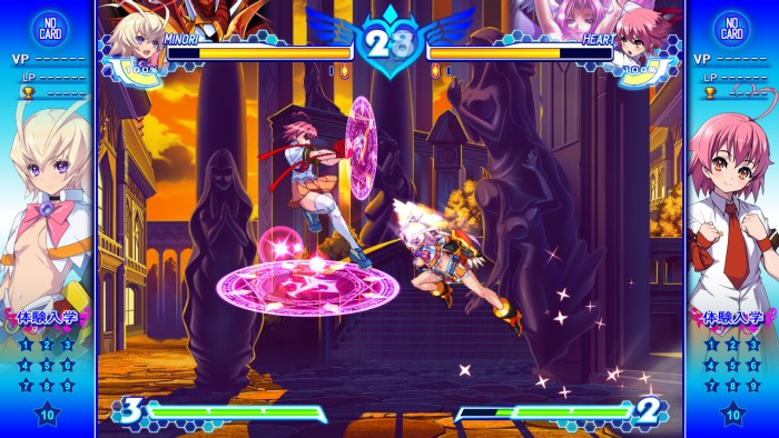 Arcana Heart 3 Love Max Six Stars gameplay screen