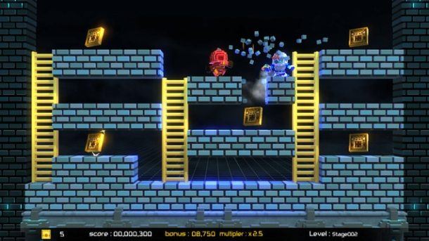 Lode Runner: Legacy | An early Adventure Mode level.