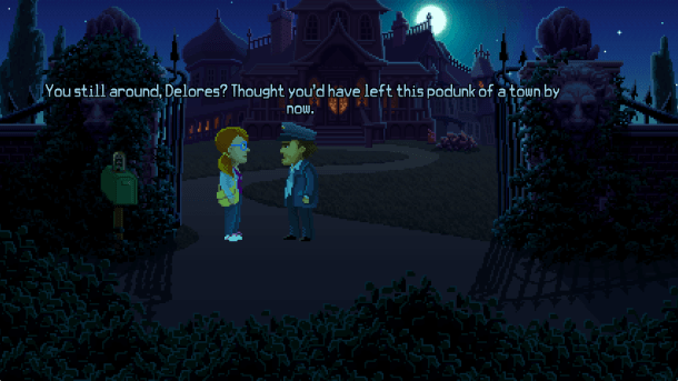 Thimbleweed Park | Delores with the Mailman